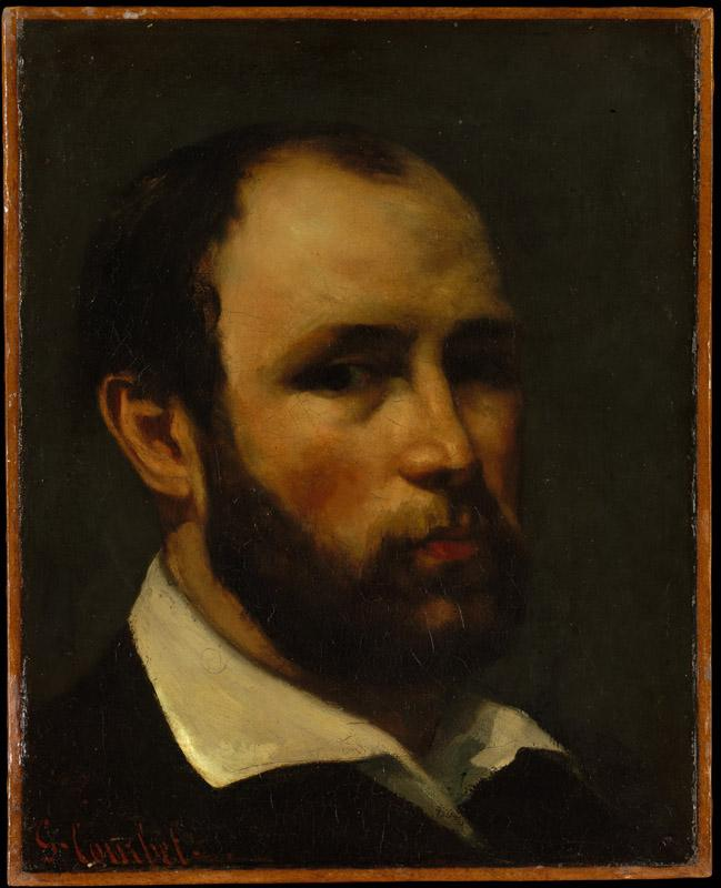 Gustave Courbet--Portrait of a Man