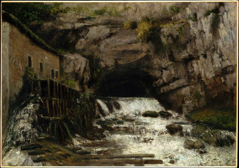 Gustave Courbet--The Source of the Loue