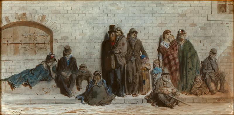 Gustave Dore-Scene on the street in London