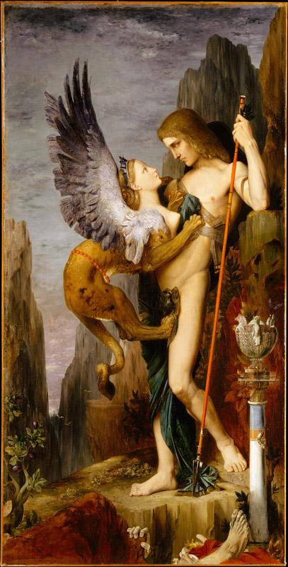 Gustave Moreau--Oedipus and the Sphinx