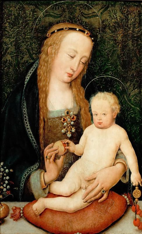 Hans Holbein the Elder (c. 1465-1524) -- Virgin and Child with a Pomegranate