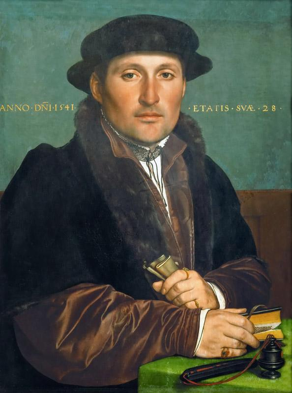 Hans Holbein the Younger (1497 or 1498-1543) -- Portrait of a Young Merchant