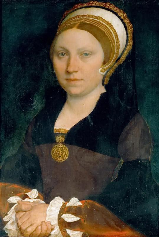 Hans Holbein the Younger (1497 or 1498-1543) -- Portrait of an English Lady