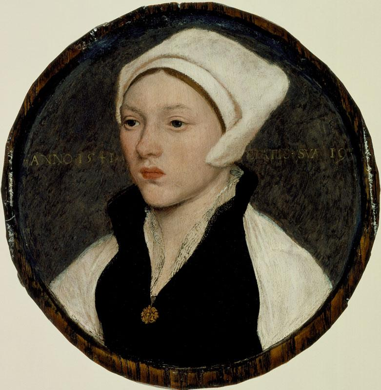 Hans Holbein the Younger - Portrait of a Young Woman with a White Coif
