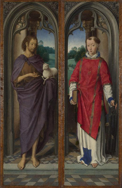 Hans Memling - Two Panels from a Triptych