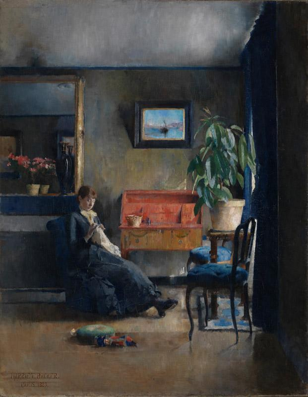 Harriet Backer - Blue Interior