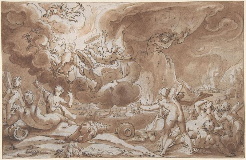 Hendrick Goltzius--The Fall of Phaeton