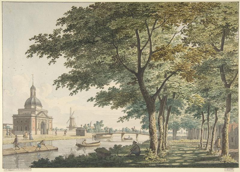 Hendrick Keun--The Muiderpoort, Amsterdam, seen from the Plantage