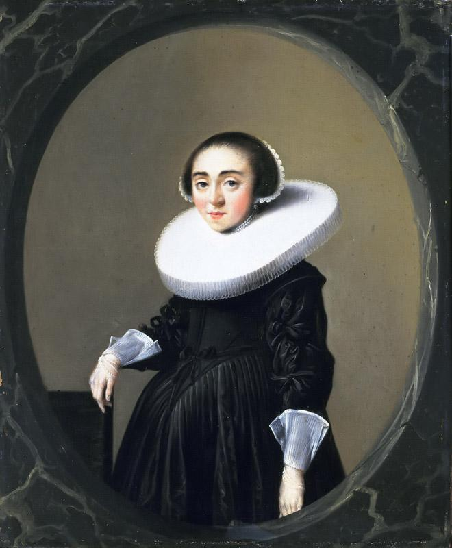Hendrick Pot - Portrait of Anna Hooftman