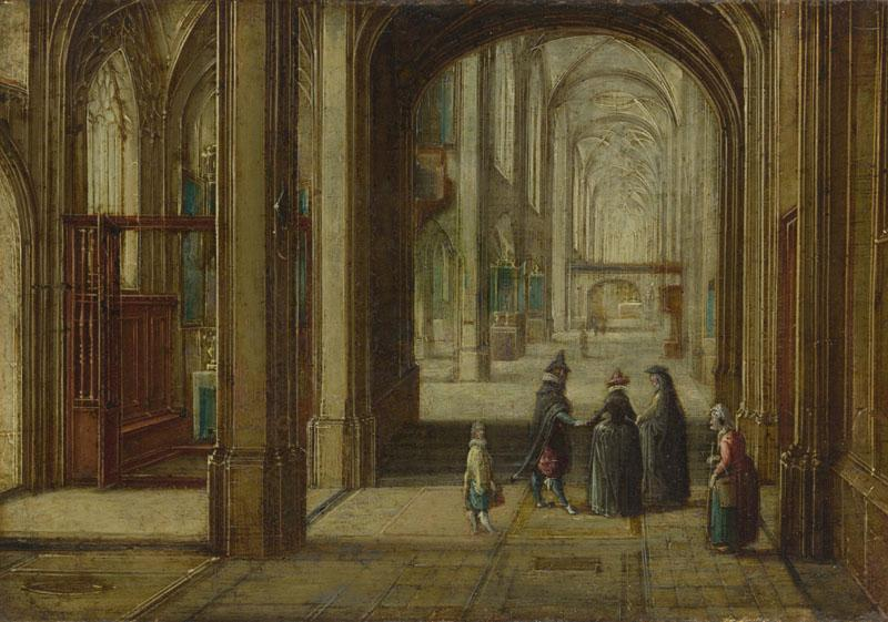 Hendrick van Steenwyck the Younger - The Interior of a Gothic Church looking East
