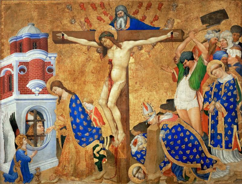 Henri Bellechose (active 1415-before 1445) -- Communion and Martyrdom of Saint Denis