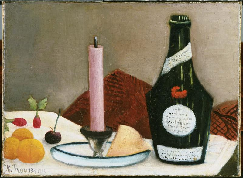 Henri Rousseau (1844-1910)-The Pink Candle