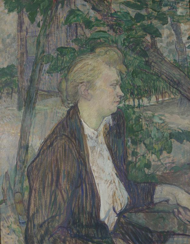 Henri de Toulouse-Lautrec - Woman seated in a Garden