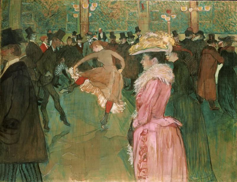 Henri de Toulouse-Lautrec, French, 1864-1901 -- At the Moulin Rouge- The Dance