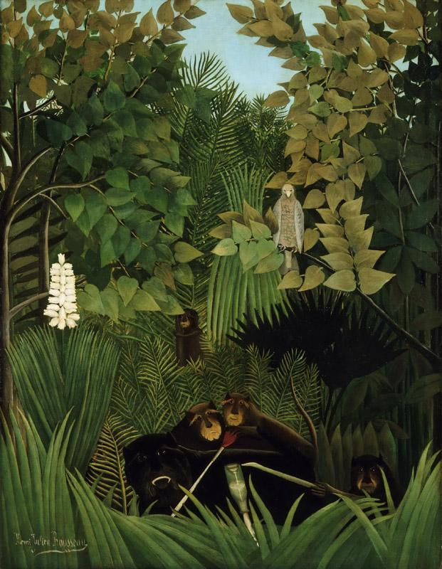 Henri-Julien-Felix Rousseau, French, 1844-1910 -- The Merry Jesters
