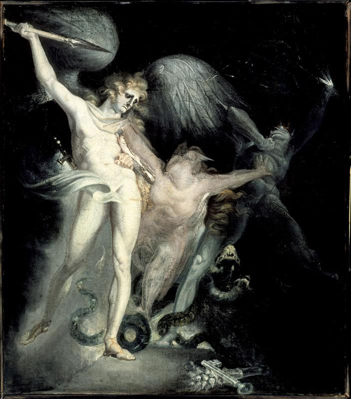 Henry Fuseli - Satan and Death with Sin Intervening