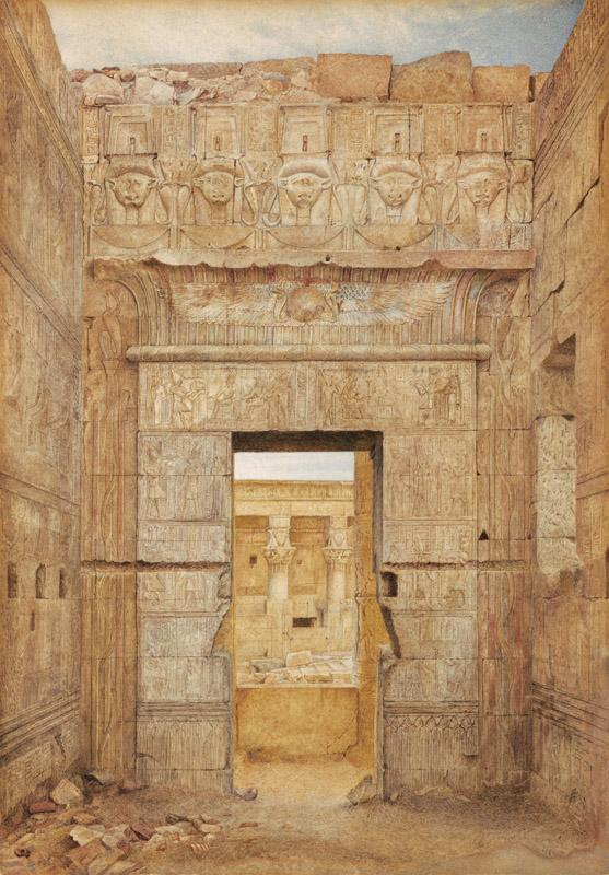 Henry Roderick Newman - Room of Tiberius, Temple of Isis, Philae, ca. 1894