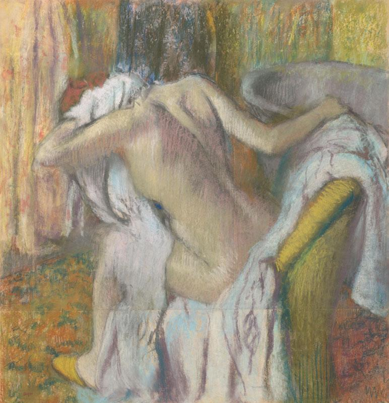 Hilaire-Germain-Edgar Degas - After the Bath, Woman drying herself