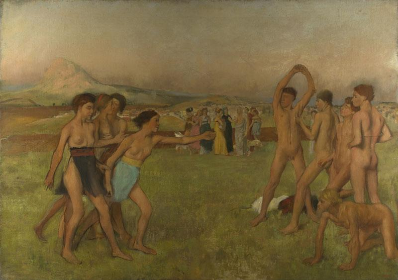Hilaire-Germain-Edgar Degas - Young Spartans Exercising