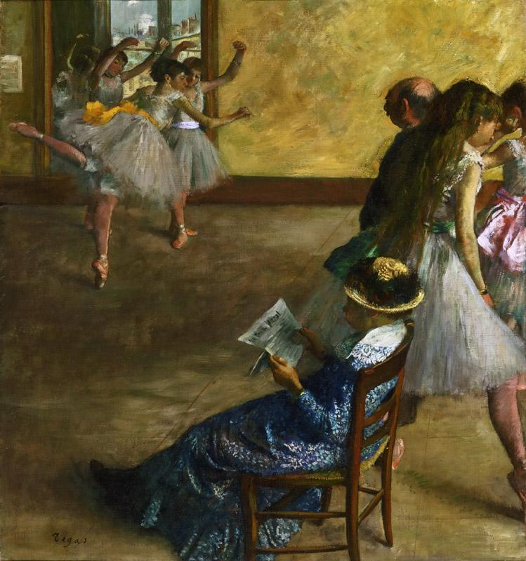 Hilaire-Germain-Edgar Degas, French, 1834-1917 -- The Ballet Class