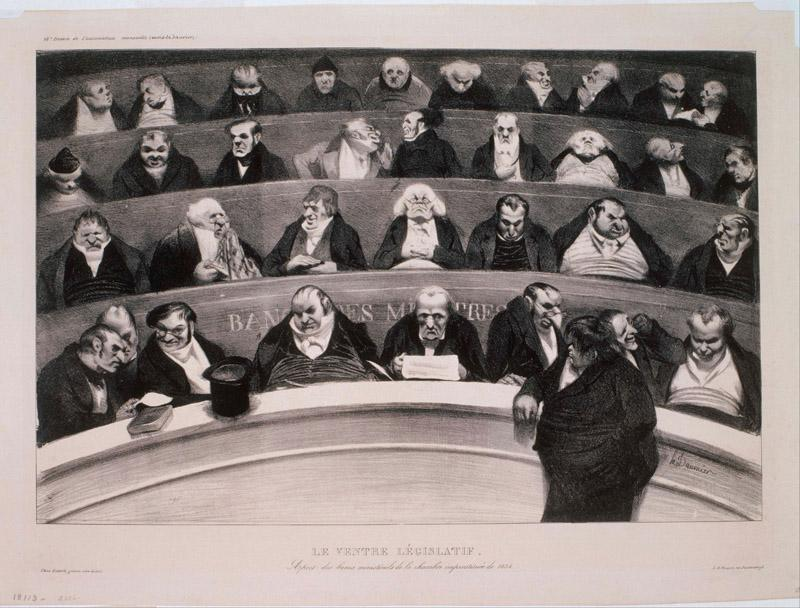 Honore Daumier (1808-1879)-Le Ventre Legislatif