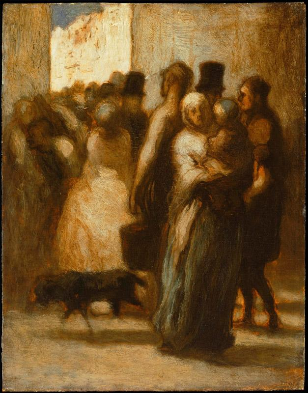 Honore Daumier (1808-1879)-To the Street