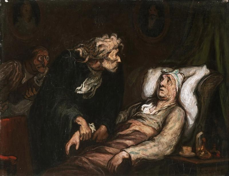 Honore Daumier, French, 1808-1879 -- The Imaginary Illness