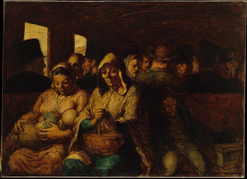 Honore Daumier--The Third-Class Carriage