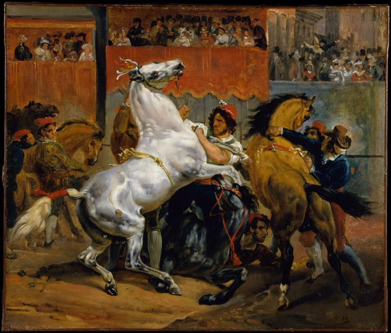 Horace Vernet--The Start of the Race of the Riderless Horses