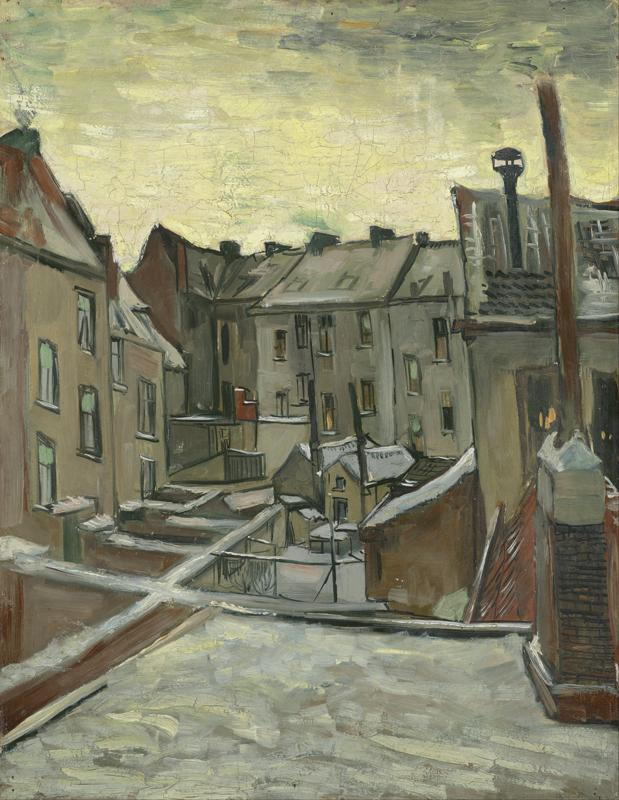Houses seen from the back (December 1885 - February 1886)