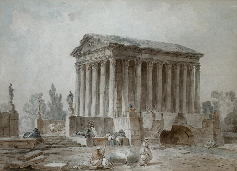 Hubert Robert - The Maison Carree at Nimes, ca. 1785-1787