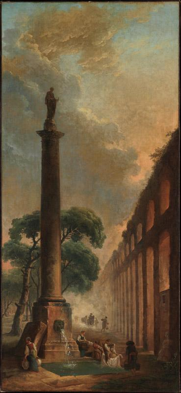 Hubert Robert--The Fountain