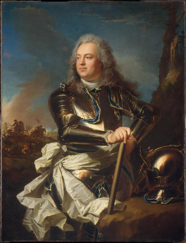 Hyacinthe Rigaud--Portrait of a Military Officer