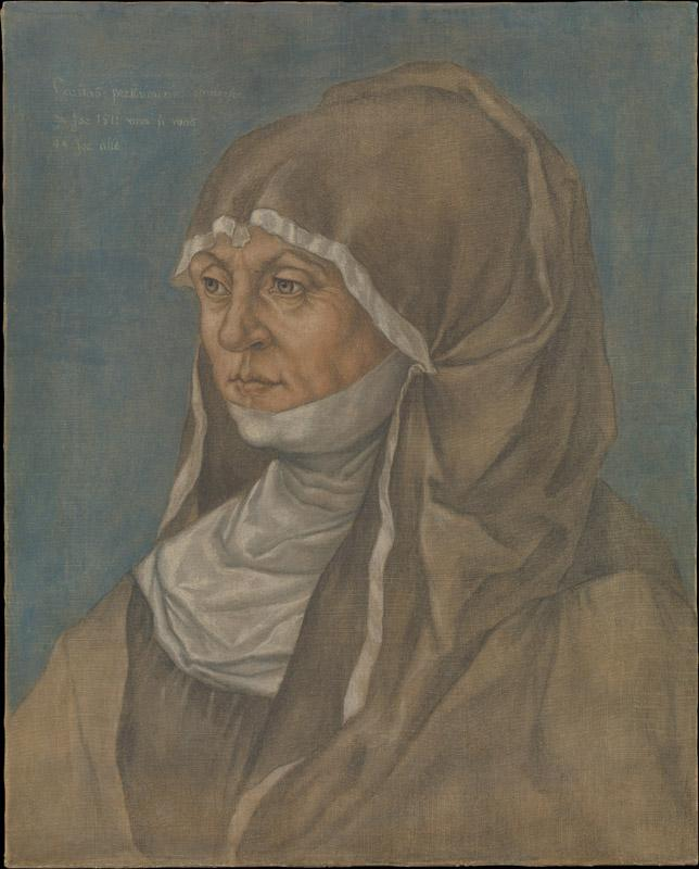 Imitator of Albrecht Durer--Portrait of a Woman, Said to Be Caritas Pirckheimer (1467-1532)