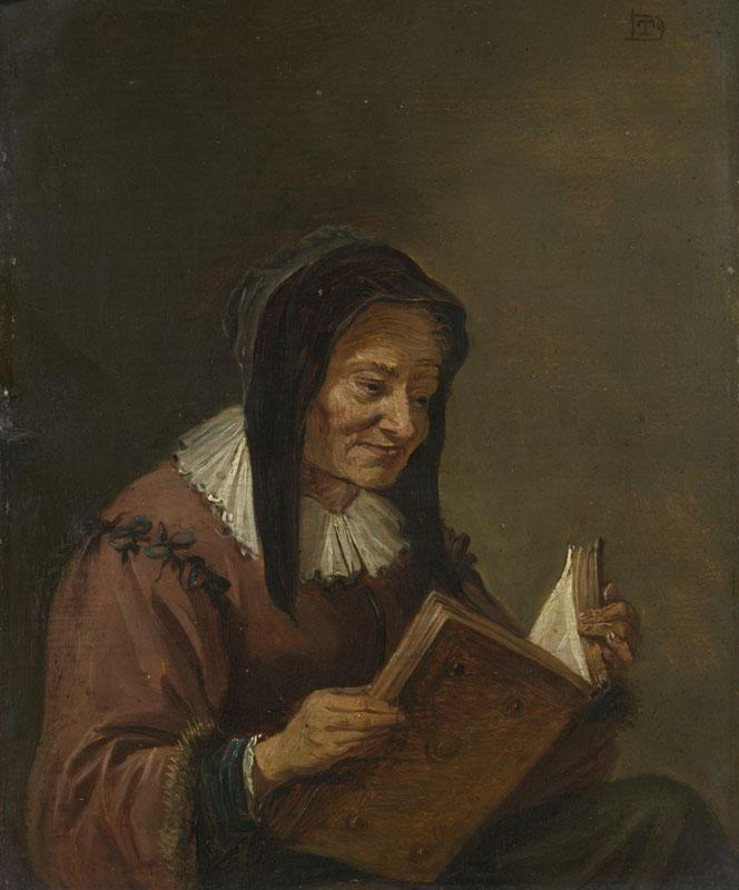 Imitator of David Teniers the Younger - An Old Woman Reading