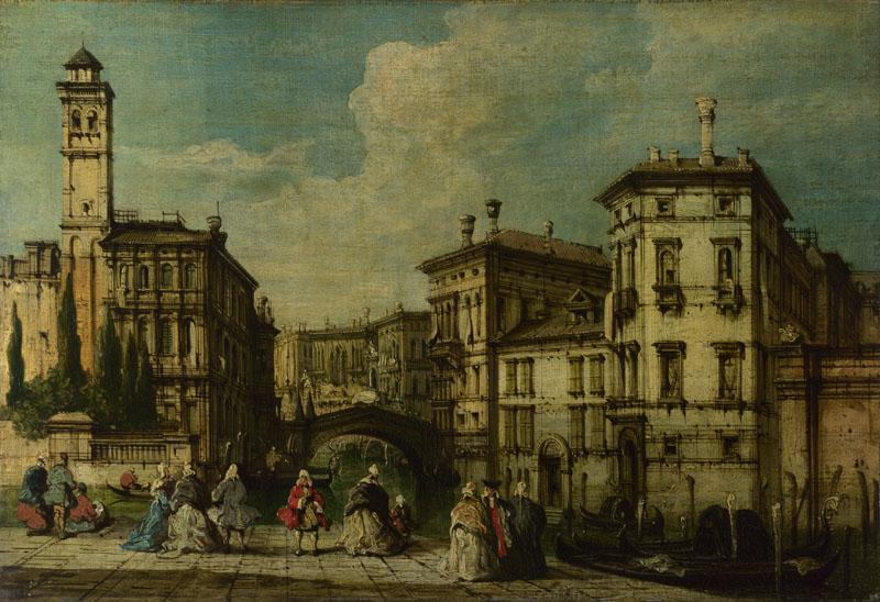 Imitator of Francesco Guardi - Venice - Entrance to the Cannaregio