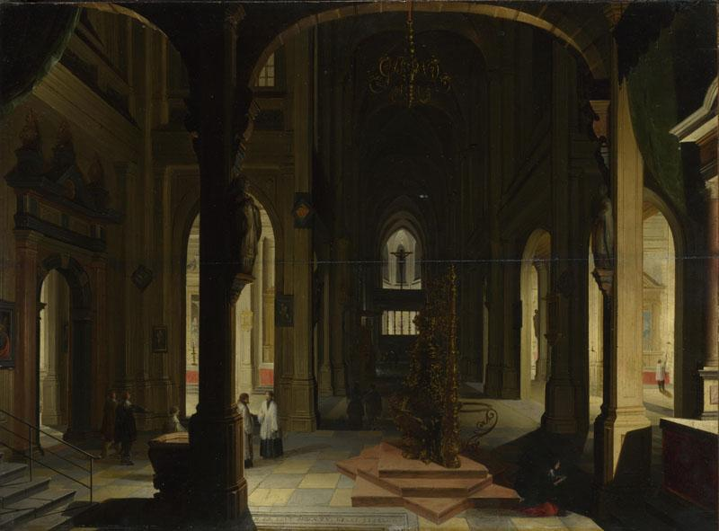 Imitator of Hendrick van Steenwyck the Younger - Interior of a Church at Night