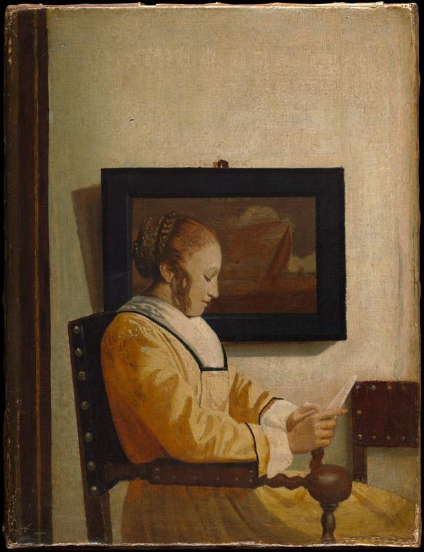 Imitator of Johannes Vermeer--A Young Woman Reading