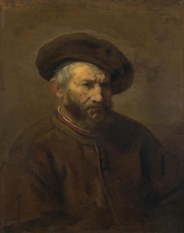 Imitator of Rembrandt - A Study of an Elderly Man in a Cap