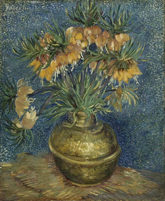 Imperial Fritillaries in a Copper Vase 1887