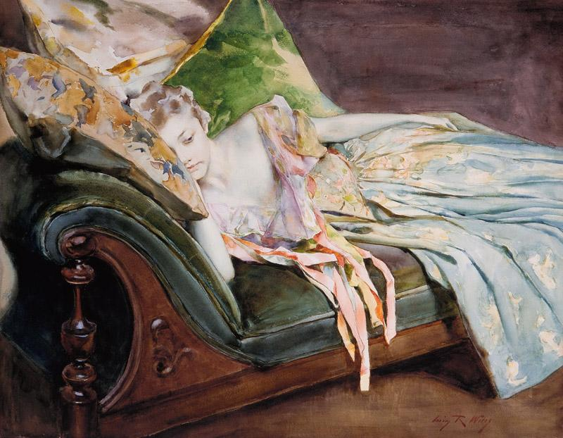 Irving Ramsey Wiles - The Green Cushion