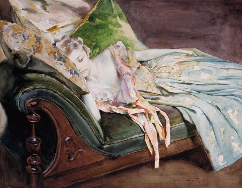 Irving Ramsey Wiles--The Green Cushion