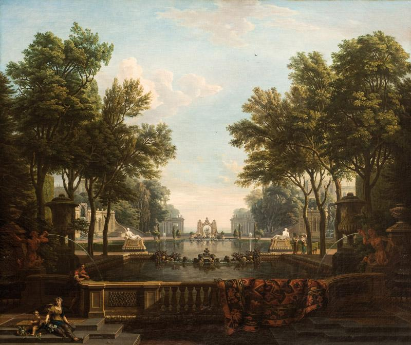 Isaac de Moucheron - Palace Garden with Water Features