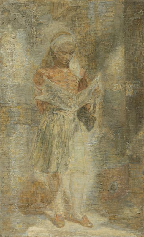 Isabel Bishop - Girl with a Newspaper, 1946