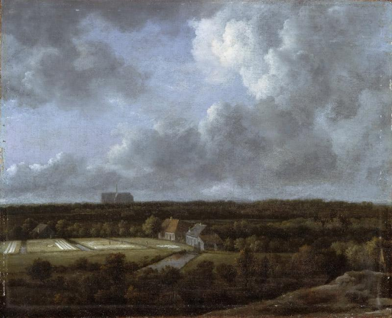 Jacob Isaacksz. van Ruisdael, Dutch (active Haarlem and Amsterdam), 1628-29-1682 -- Bleaching Fields to the North-Northeast of Haarlem