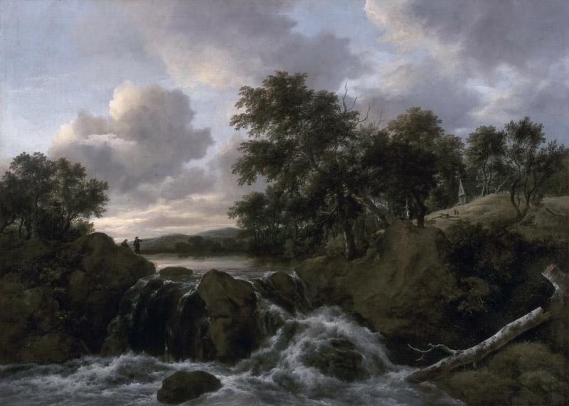 Jacob Isaacksz. van Ruisdael, Dutch (active Haarlem and Amsterdam), 1628-29-1682 -- Landscape with a Waterfall
