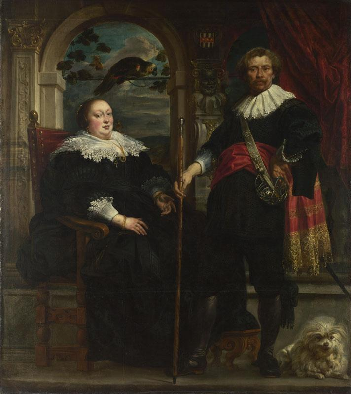 Jacob Jordaens - Portrait of Govaert van Surpele and his Wife