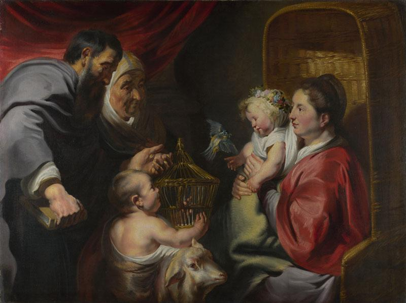Jacob Jordaens - The Virgin and Child with Saint John and his Parents