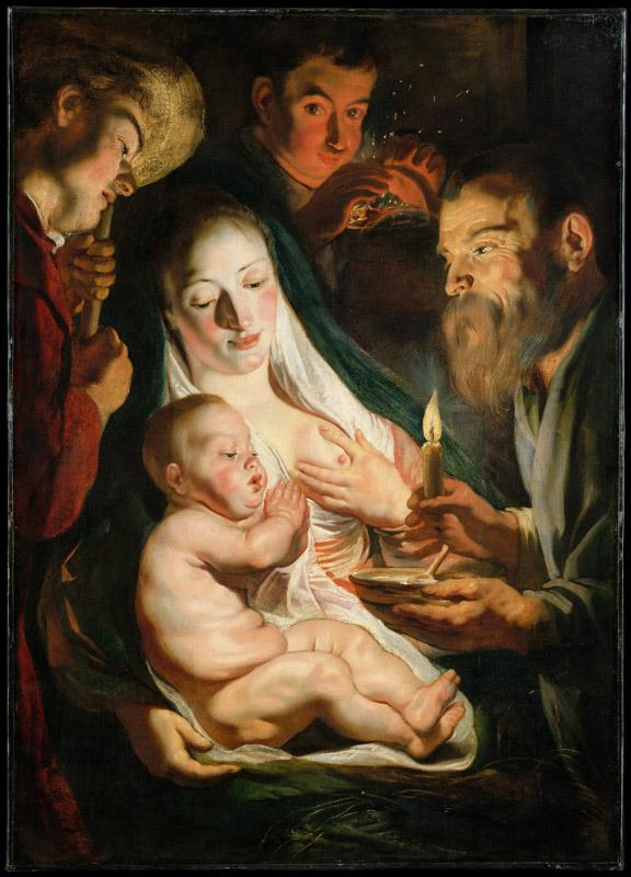 Jacob Jordaens--The Holy Family with Shepherds