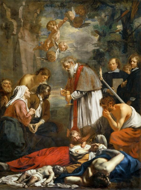 Jacob van Oost the Younger -- Saint Macaire of Ghent and the pestilents